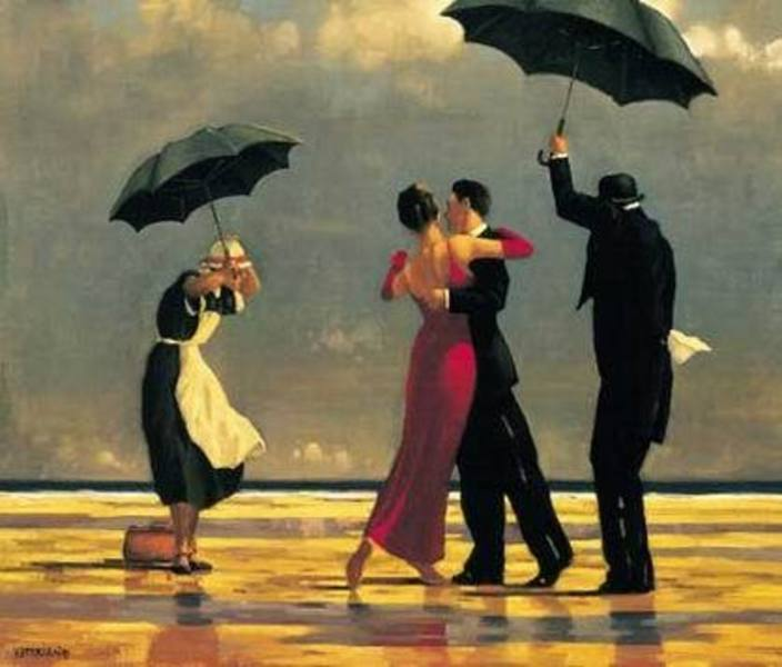 Dancing Umbrella Painting Painting Couples Dancing
