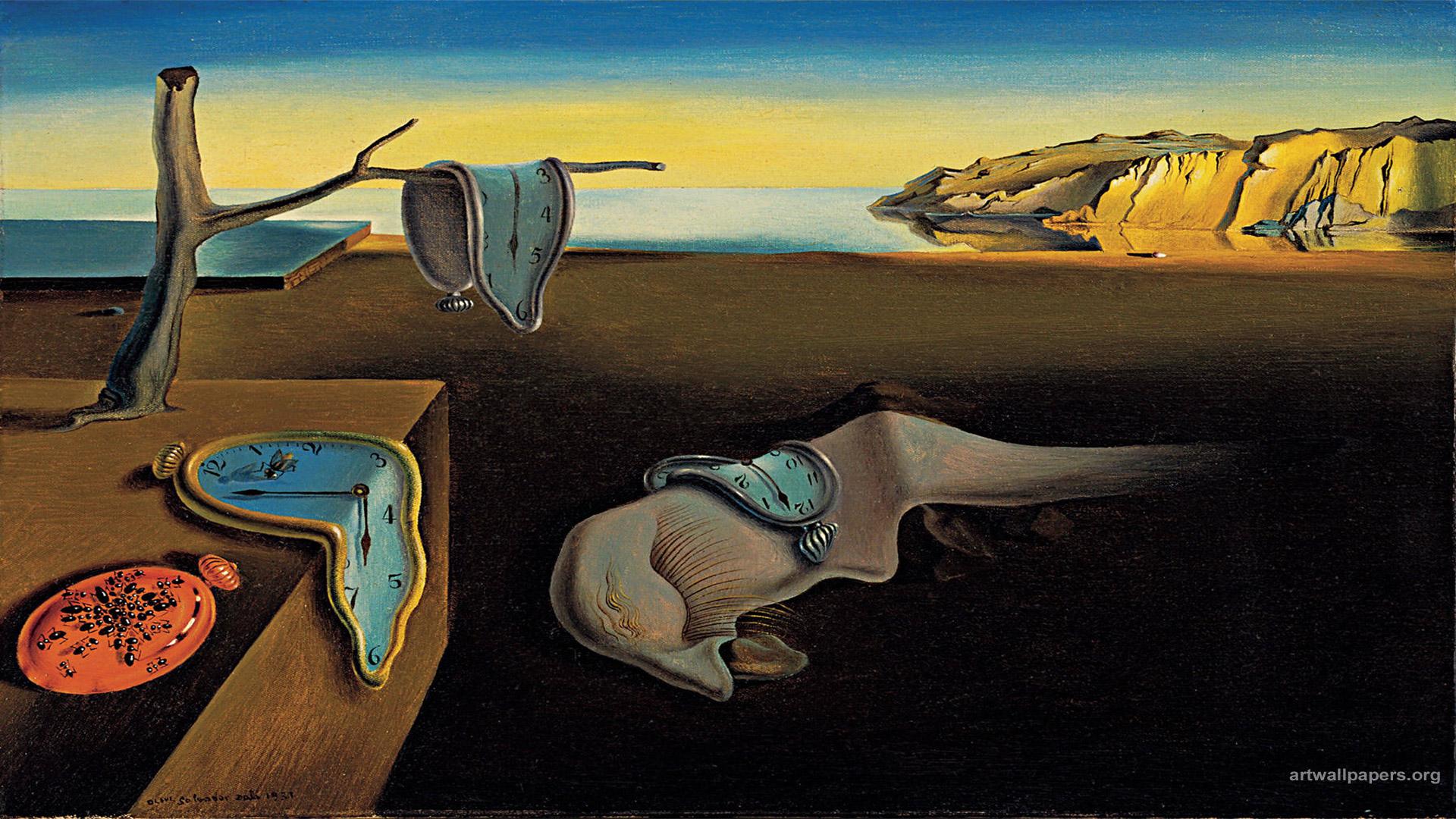 Salvador Dali Wallpaper Clocks