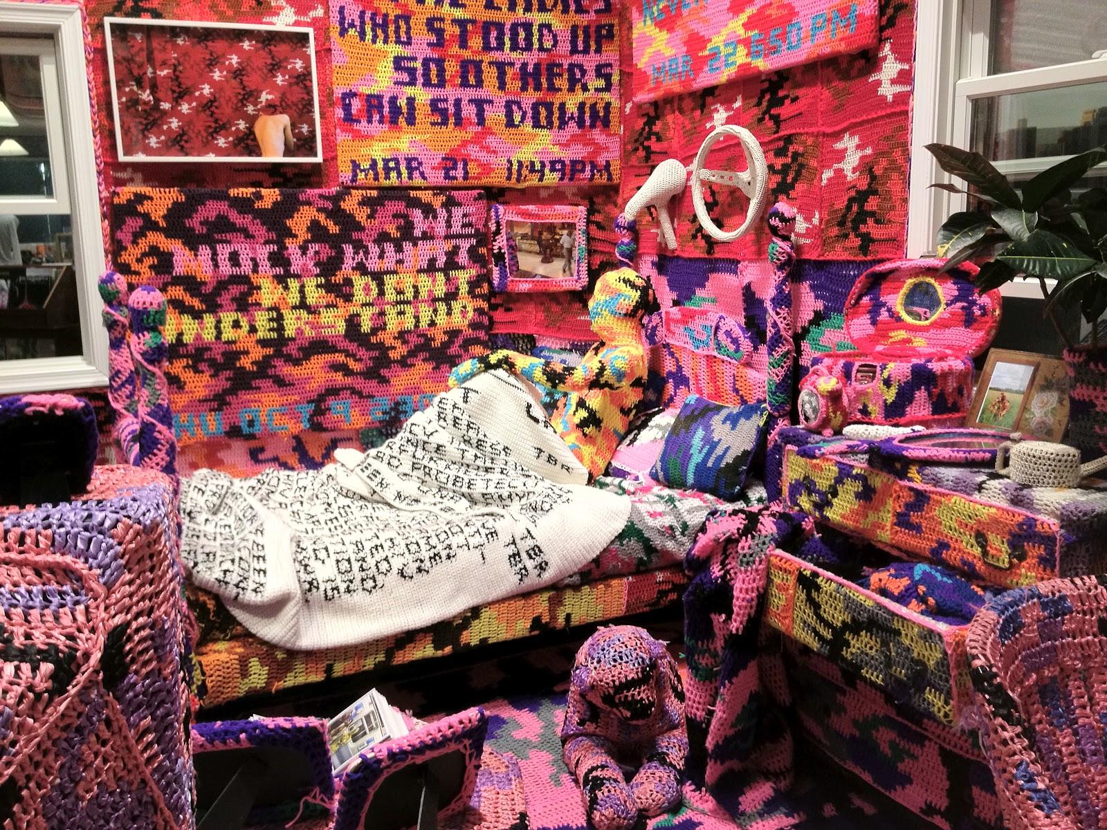 Artist Of The Moment Crochet Street Artist Olek Also
