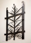"""Sculpture by Noel Gregg """"Wrought Iron Gate"""",23/6/08."""